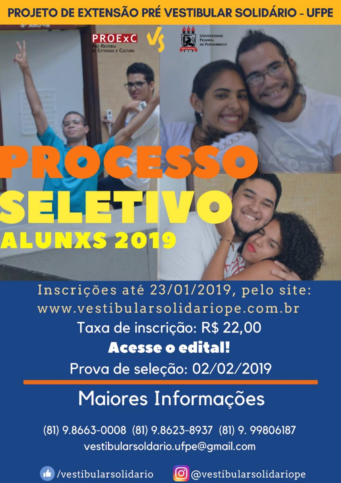 Processo seletivo vestibular solidário 2019.1