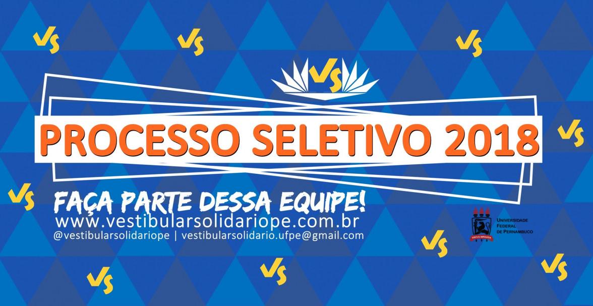 Processo Seletivo 2018 - Vestibular Solidário