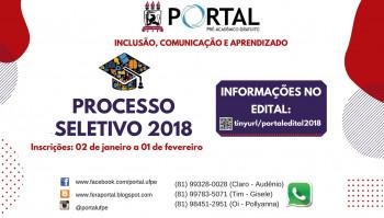 Processo Seletivo 2018 - Portal UFPE